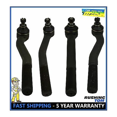 4Pc Kit Inner & Outer Tie Rod for Jeep Grand Cherokee 1999-2004