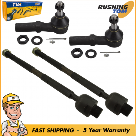 4Pc Inner & Outer Front Tie Rod for Dodge RAM 1500 2002-2008 5 Year Warranty