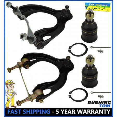 4Pc Kit Front Upper Control Arm & Lower Ball Joint for Honda Civic Acura Integra