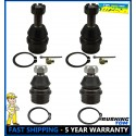 4 NEW Front Lower and Upper Ball Joint Set Ford F-250 F-350 Excursion 4x4