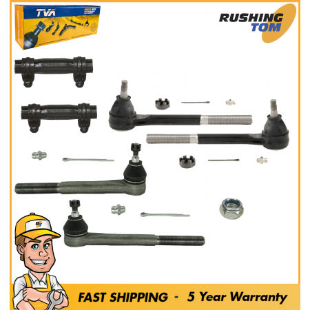 6Pc Kit Front Inner Outer Tie Rod Steering Kit For Chevrolet S10 GMC Jimmy RWD