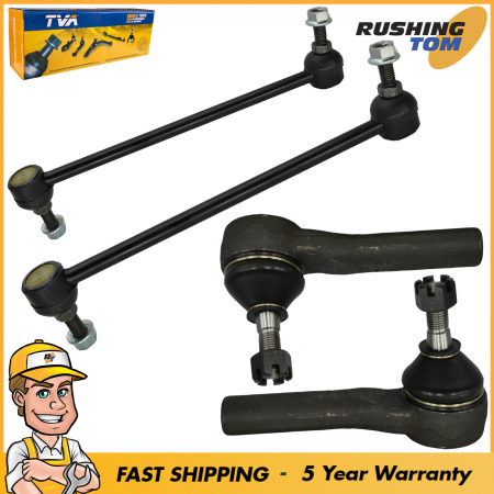 4Pc Front 2 Sway Bars & 2 Outer Tie Rod fits ChryslerDodge