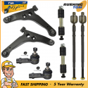 Front Lower Control Arm Sway Bar Tie Rod 8Pc Kit for 2002-06 Mitsubishi Lancer