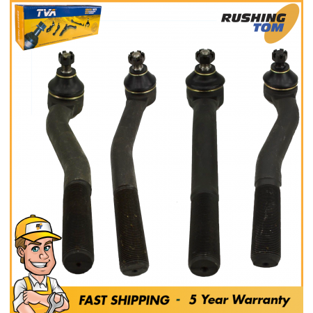 4Pc Front Tie Rod Steering Kit for Jeep Grand Cherokee 1999-2004