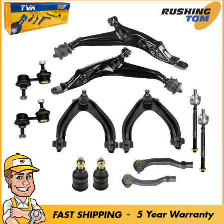 12Pc Suspension Ball Joint Sway Bar Control Arm Kit For Honda CR-V 1997-2001